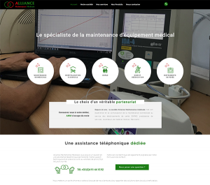 Refonte graphique, ergonomique et technique du site Alliance Maintenance Médicale